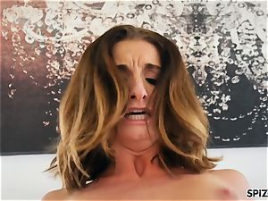 Spizoo- see Silvia Saige take a yam-sized man-meat in her cooter