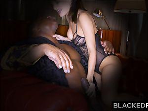 BLACKEDRAW wife enjoys his hefty ebony salami a little too much