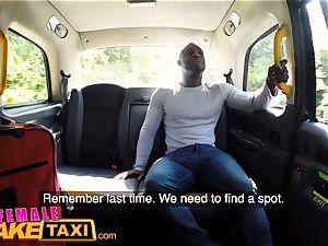 damsel faux taxi kinky Ava Austen can't resist boner