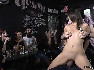 all-natural european hottie romped in a bar