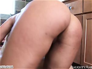 My brother's promiscuous wife with enormous inborn tits Bridgette B