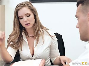 Office smash with busty boss Lena Paul
