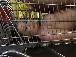 Kathia Nobili spanking the butt of molten girl with flog