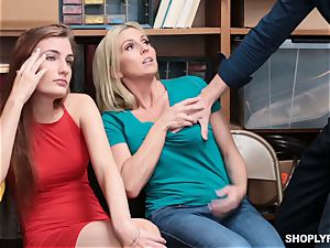 Christie Stevens and Nina Nirvana screwed by security guard