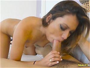 Nicole Ray man-meat deepthroating and thrashed nutsack deep