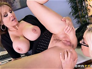 chief Julia ann pounds her stunning assistant Olivia Austin