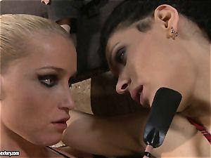 Kathia Nobili torturing a insane college female