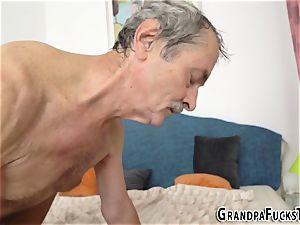nubile boinked by grandpa