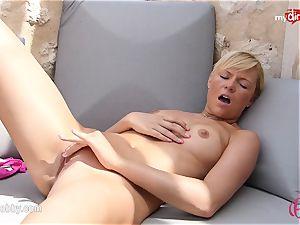 MyDirtyHobby - red-hot platinum-blonde tugging outdoor!