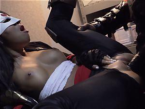 Suicide crew parody Sn 4 Ada Akira railing dark-hued weenie