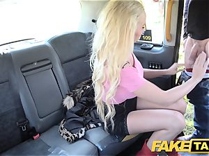 faux taxi blondie fabulous hottie does backseat anal invasion romp