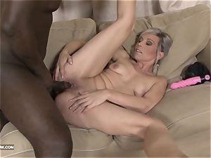 teasing taut snatch bi-racial rough ebony anal invasion pound
