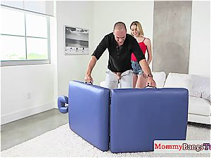 huge-titted stepmom training her daughter