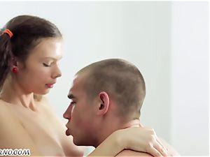 Undergraduate seduced by the yummy Russian female Alena