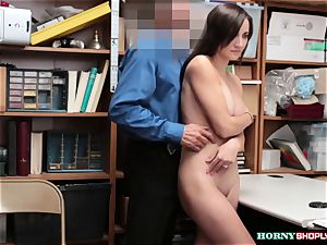 big-boobed Jade Amber gets her tight poon humped by bulky officers humungous spear
