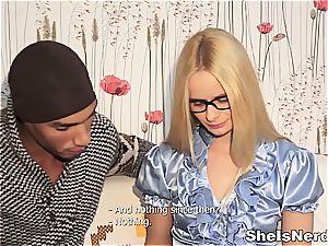 Russian babe bi-racial nailing
