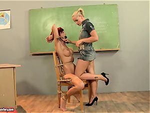 Kathia Nobili giving a insatiable lesson to a super-hot red head