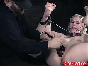 gagged subjugated jiggles while nutting