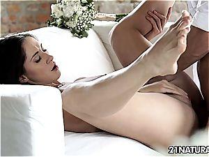 sticking it into Aruna's butt