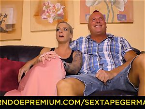 SEXTAPE GERMANY spunk on fun bags for sugary gal