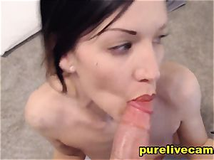 sheer pleasure black-haired Used A fuck stick And showcasing Her cooter On web cam