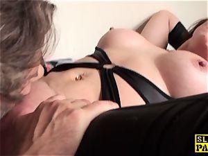 slit gobbled brit mature frigs her cunny