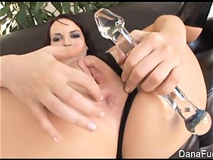 Dana gets her donk jammed with huge black spunk-pump
