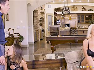jizzswapping beauties Adriana Chechik and Nicolette Shea boinked deep